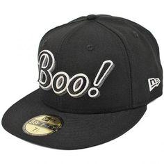 8afa428b445 NewEra Black Boo! Fitted Cap. CapEaters