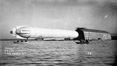 LZ-4 leaves the hangar on Lake Constance, 6:05 a.m., 4 August 1908.