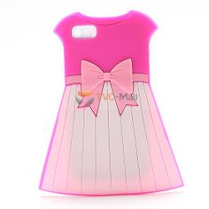 Cute iPhone Cases for Girls | Cute Girl Dress Skirt Silicone Case for iPhone 4 4S - Pink Bowknot ...