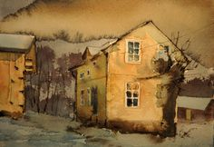 The Old School House Painting By Bjrn Bernstrm Saatchi Art in house painting school Art Painting, Landscape Paintings, Painting, Watercolor Architecture, Art, Watercolor Sketch, Watercolor Landscape, Watercolour Inspiration, Landscape Art