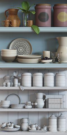 3d модели: Посуда - Decorative set №3