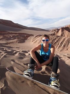 TL Travel spends the day sandboarding in the Atacama Desert! What a stunning view & a great way to stay active on the road!