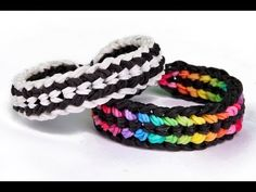 Rainbow Loom Double Capped Dragon Scale Advanced Bracelet - YouTube