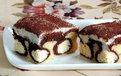 """Torte """"Morgentau"""" Zutaten: - 200 g Margarine - 150 g Zucker - 3 Eier - 150 g Schmand - 3 Esslöffel Milch - 300 g Mehl - 1 Päckchen Backpulver - 3 Esslöffel Kakao - 200 g Quark - 3 Esslöffeln Zucker..."""