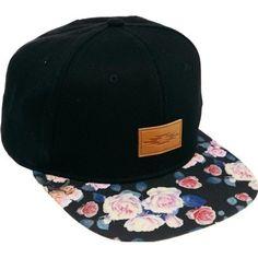 Asos Snapback Cap Floral Peak