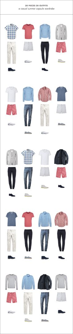 20 Outfits with 20 Pieces // Easy summer capsule wardrobe