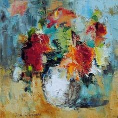 Bright Beginning - original oil painting by Julia Klimova at Crescent Hill Gallery Easy Flower Painting, Flower Collage, Flower Art, Realistic Paintings, Cool Paintings, Art Impressions, Scripture Art, Arte Floral, Abstract Flowers