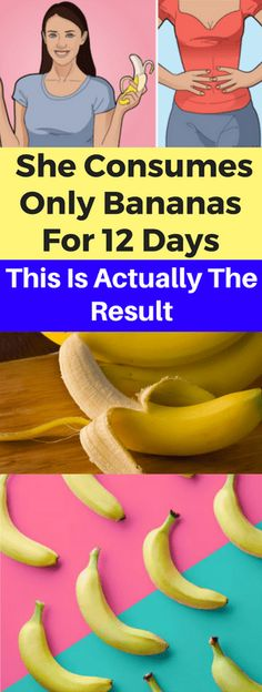 A Woman Wished To See What'll Happen In Case She Consumes Only Bananas For 12 Days. This Is Actually The Result - seeking habit Healthy Drinks, Healthy Tips, How To Stay Healthy, Healthy Eating, Advantages Of Banana, Health Routine, Healthy Exercise, Pregnancy Health