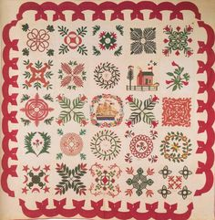 Baltimore Album Quilt, 1845. Made by Meary Celia Hiss Crowl. Maryland.
