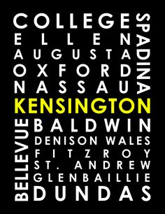 Repping Kensington Market. Customize by colour or to highlight your stop. $25 for ready-to-print download, ask about prints streetcarposter@gmail.com