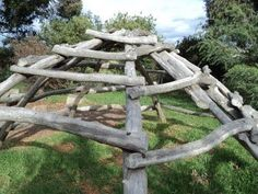 Way cool climbing frame in Steiner setting.