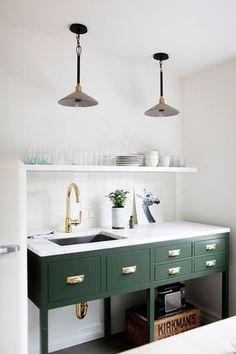 uma obsessão decorativa - cozinhas verde esmeralda