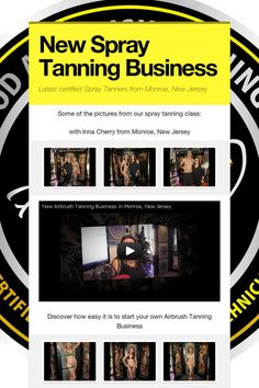 New Spray Tanning Business - Latest certified Spray Tanners from Monroe, New Jersey by Simone Emmons Airbrush Tanning, News, Business, Hollywood, Store, Business Illustration