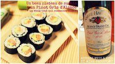 #accordsmetetvin Pour ce soir, que diriez-vous d'un beau plateau de sushis accompagné d'un pinot blanc d'Alsace ? Domaine d'André Hartmann pour nous !