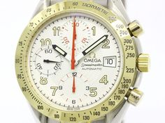 Polished #OMEGA Speedmaster Mark 40 18K Gold Steel Mens Watch 3313.33 (BF102257): #eLADY global accepts returns within 14 days, no matter what the reason! For more pre-owned luxury brand items, visit http://global.elady.com