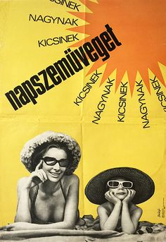 Bano Endre - Sunglasses for kids and adults,  1968,  Hungarian poster