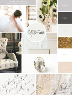 Sneak Peek: Whiskey & White Events Branding Inspiration | By Salted Ink | To find all lovely image credits, please follow this link.