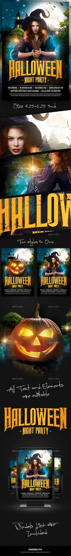 Halloween Party Flyer Template PSD #design Download: http://graphicriver.net/item/halloween-party-flyer-template/13022689?ref=ksioks