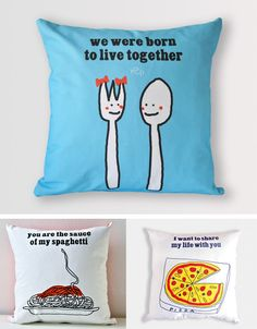Cute couples saying pillows