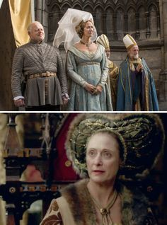 The White Queen (2013) Starring: Robert Pugh as Baron Rivers, Elizabeth Woodville's father; Janet McTeer as Jacquetta, Lady Rivers, Elizabeth Woodville's mother; and Caroline Goodall as Cecily Neville, Duchess of York, King Edward's mother.