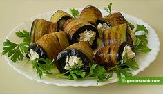 The Recipe for Eggplant Rolls with Cottage Cheese | Romantic Dinner Recipes | Genius cook - Healthy Nutrition, Tasty Food, Simple Recipes