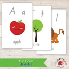 Free Alphabet Flash Cards by Busy Little Bugs (free for a limited time only) Alphabet Phonics, Learning The Alphabet, Printable Alphabet, Kids Learning, Preschool Set Up, Preschool Literacy, Literacy Skills, Kindergarten, Tot School