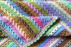 Cupcake Stripe Blanket - Free Pattern