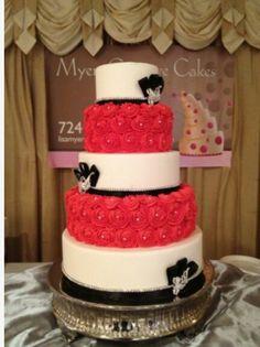 Rosette tier wedding cake