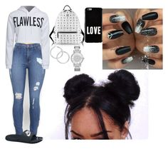 """""""Untitled #546"""" by queen-ayanna on Polyvore featuring WithChic, NIKE, MCM, Michael Kors and Givenchy"""