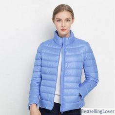 7b07d5b4bf8 17 Colors Warm Slim Zipper 2019 Women Fashion Light Down Coat
