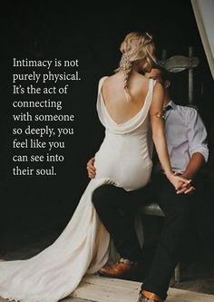 Intimacy is not purely physical. It's the act of connecting to someone so deeply, you feel like you can see into their soul. Relationships Love, Relationship Quotes, Healthy Relationships, Me Quotes, Qoutes, Daily Quotes, Dear Future Husband, Romantic Love Quotes, Love And Marriage