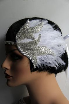 Flapper headpiece. Great Gatsby Inspired Wedding Headpiece at Tulle Cabaret $65