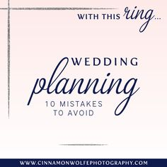 10 Mistakes to avoid while wedding planning | With this Ring...
