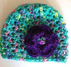 Baby flower hat crochet baby beanie newborn by BloomingRoseCrochet