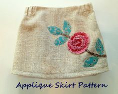 Vintage Rose Skirt Pattern  Take Ruby Jeans 30 Minute Skirt Pattern, add a…