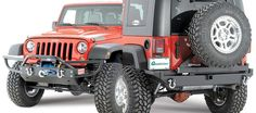 Rock Hard 4X4 Parts Front Bumper with Tube Extensions & Recessed Winch Plate & Rear Bumper for 07-17 Jeep® Wrangler & Wrangler Unlimited JK | Quadratec