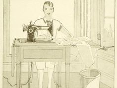 1920s vintage sewing book The New Butterick by EAGERforWORD