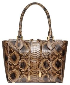 8ab710253a7 Michael Kors Miranda Large Python Chocolate Tote Bag. Get one of the  hottest styles of