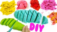 Sand, food coloring, white glue, laundry detergent   DIY KINETIC SAND   EASY DIY Sensory Toys for Kids - YouTube