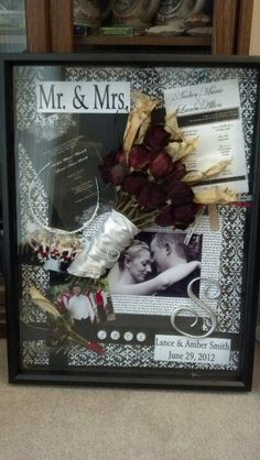 Amber and Lance's shadow box