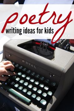 14 creative poetry writing prompts for kids to challenge them to write their own poems. Several different forms of poetry are included, such as haiku.