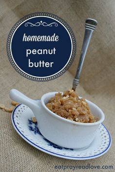 2 ingredients + 5 minutes = this delicious homemade peanut butter! It's a must-try!