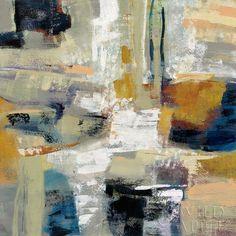 "Silvia Vassileva Full Moon I   Lithograph on paper  27"" x 27""  NEW #AbstractLandscape"