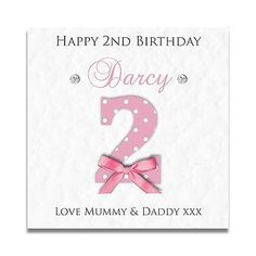 Handmade Personalised Girls 1st 2nd 3rd 4th Daughter Granddaughter Birthday Card Greeting Cards