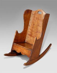 Georgian child's satinbirch rocking chair, circa 1780, England