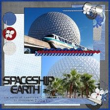 Spaceship Earth - MouseScrappers - Disney Scrapbooking Gallery