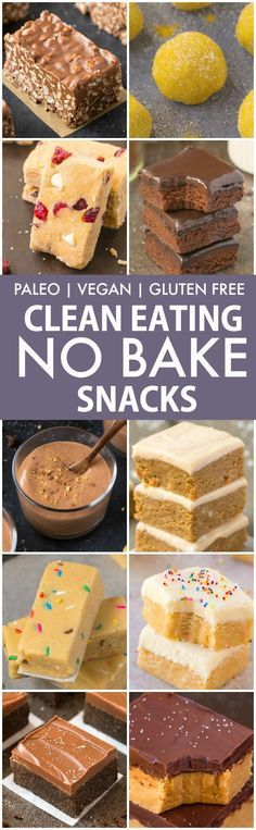 Clean Eating Healthy No Bake Snacks V GF P DF Quick easy and healthy no bake snacks which take minutes and are protein packed sugar free vegan gluten free paleo recipe Clean Eating Desserts, Clean Eating Diet, Eating Healthy, Eating Habits, Clean Eating Cookies, Healthy Sweets, Healthy Baking, Healthy Snacks, Healthy Protein