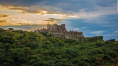 "Dover Castle, Kent – This beautiful hillside castle was built by King Henry II in the 1180s. In 2015 alone, Dover Castle was featured in two TV and movie productions: ""Avengers: Age of Ultron"" and BBC's ""Wolf Hall."" In the cliffs underneath the castle lie a network of secret WWII tunnels and an underground hospital"