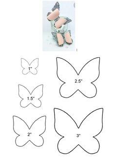 Bows For Babies Baby Bows Diy Butterfly Butterfly Template Felt Bows Ribbon Bows Diy Hair Bows Diy Bow Diy Headband Felt Flowers, Fabric Flowers, Paper Flowers, Bow Template, Butterfly Template, Butterfly Stencil, Templates, Handmade Hair Bows, Diy Hair Bows