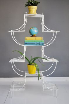Mid-Century Pagoda Style Plant Stand by thewhitepepper on Etsy